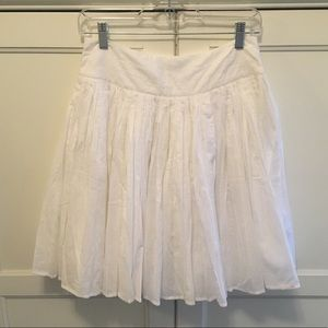 Top Shop white full circle pleated skirt Sz 6